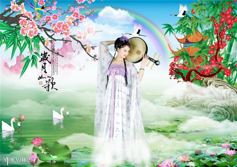 古典美女 岁月如歌 移图网 中国最大移门图库
