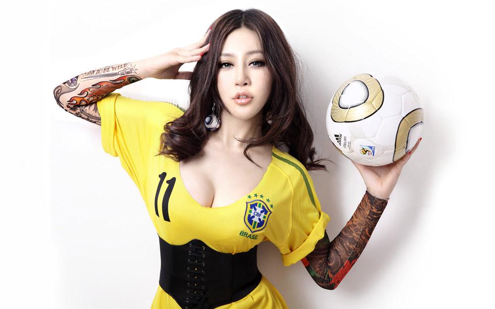 足球宝贝美女+ +移图网